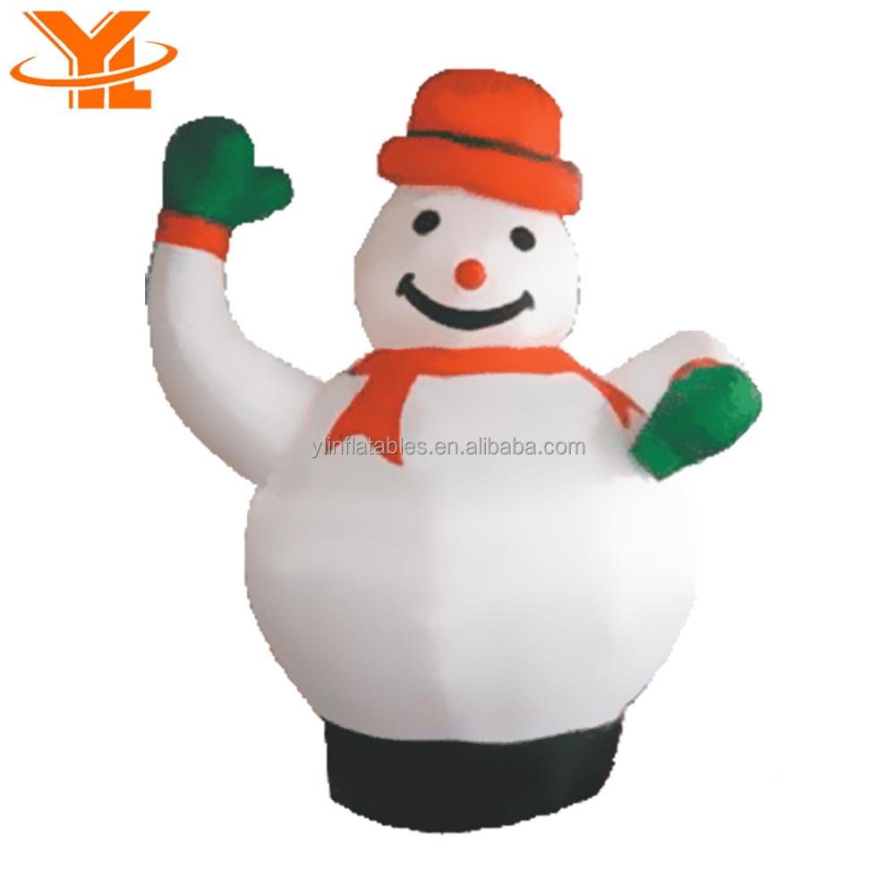 Christmas Inflatable Snowman,Outdoor Santa Decorations,Xmas Smile ...