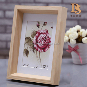 Home Decoration European 3D Solid Family Photography Display Wooden Picture Frame