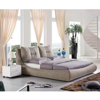 superior quality 44011 d0500 Plush Headboard Cushion Wholesale Interior Modern Leisure Platform Bed  Light Grey Fabric Upholstered Bed - Buy Fabric Upholstered Bed,Fabric ...