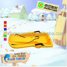 2013 Hard packed Plastic winter children blue skiing snow boat
