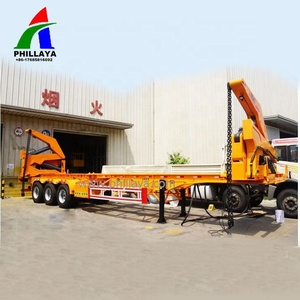 3 Axle 40 ft Container Self Loading Container Truck, 20 ft Skeleton Container Side Lift