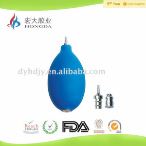PVC bulb with metal tip ear syringe used to clean people's ear