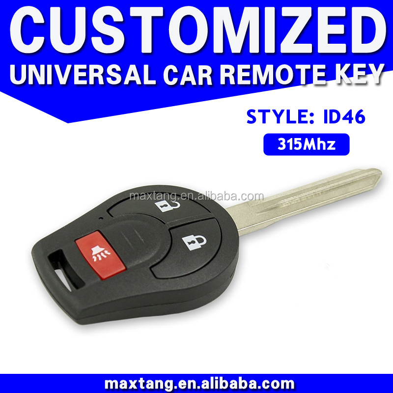 Hot Sale Oem Custom Items Remote Original Universal Car Key 2+1 Button 315/433Mhz ID46 MTF-101823