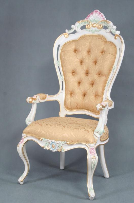 Rococ sedia da pranzo in stile classico francese antico - Sala da pranzo in francese ...