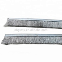 Industrial Aluminum Base Steel Wire Deburring Polishing Strip Brush