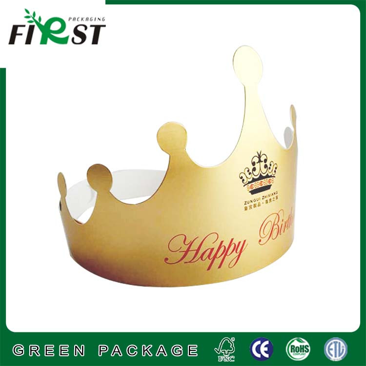 Popular cheap birthday hats/ crown for party/Children gold crown hat for party
