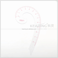 Kearing Flexible Plastic transparent Vary Form Curve Ruler 12'' French Curve for fashion design#6012