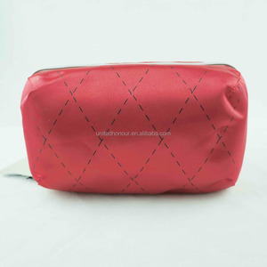 Customised Shiny PVC Mirror-surface Leather Cosmetic Bag Red Colors Travel Makeup Bag Pouch