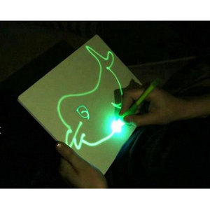 toys 2019 New Product 3d magic drawing board freeze light fluorescent drawing board for kids