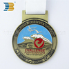 Professional manufacturer make custom metal sports medal with ribbon