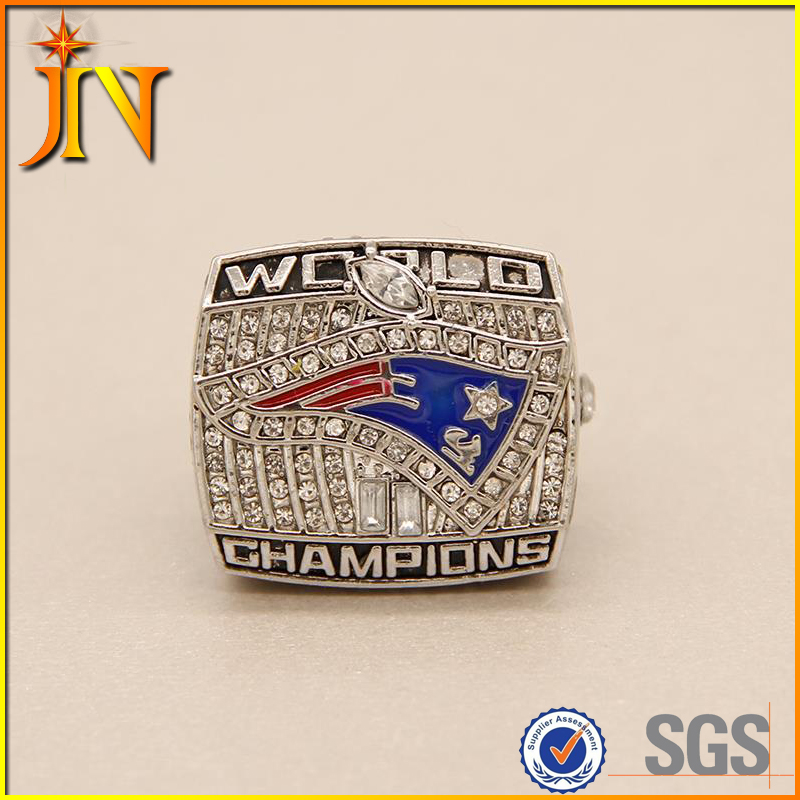RG013 JN Factory direct wholesale 2001 New England Patriots Super Bowl Championship Rings Zinc Alloy silver plated