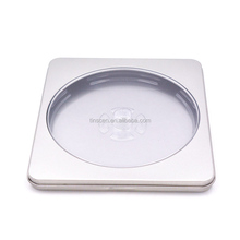 square natural color metal cd storage box cd storage case dvd storage box with PVC window
