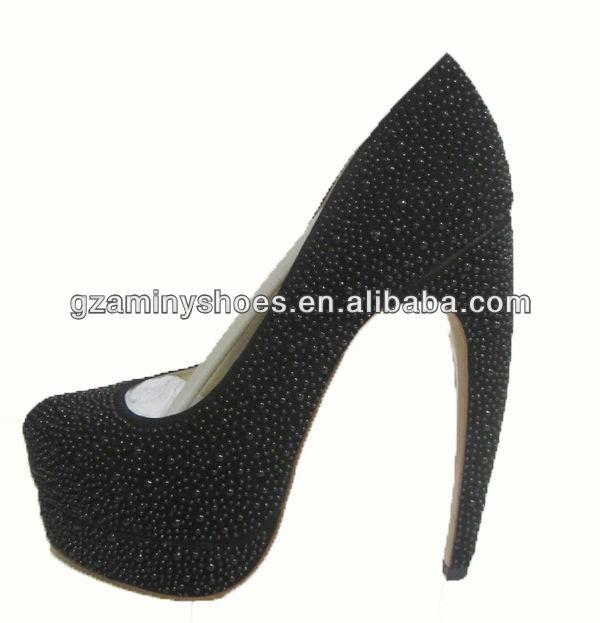 Platform leather shoes high genuine fashion heel curved R4n1PrqR