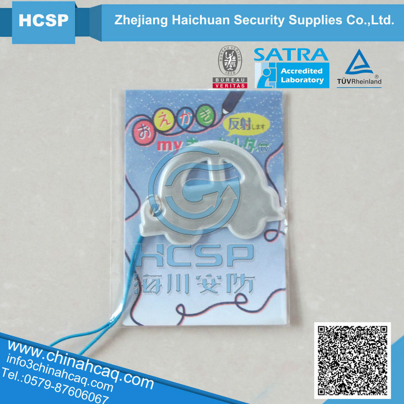 Hot promotional gifts led light reflective keychain