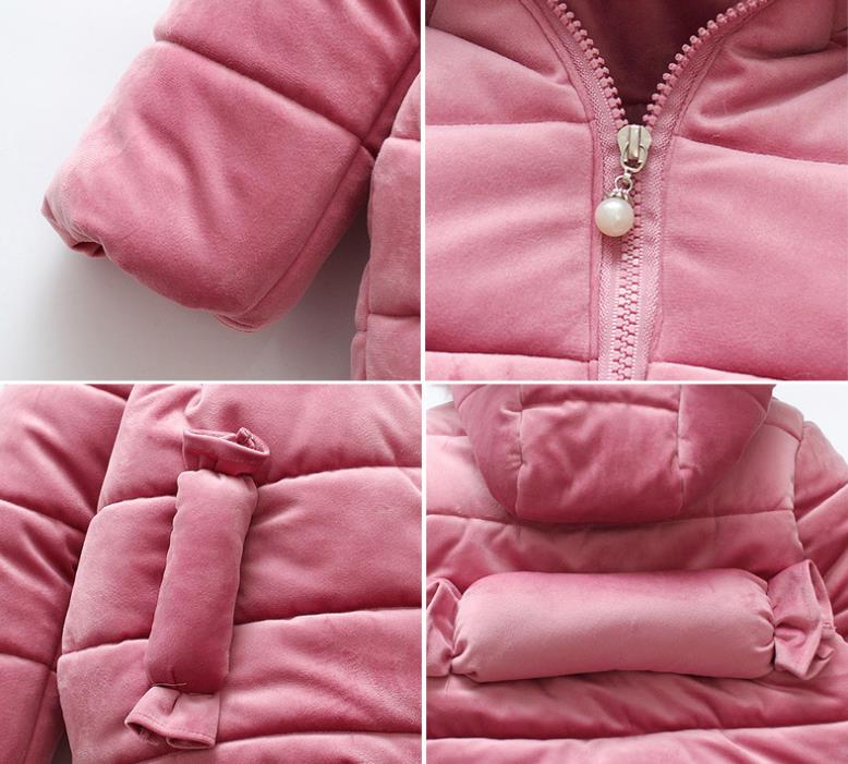 2020 baby winter zipper coats fashion navy blue baby girls winter hoodie coat for sale