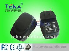 Compact size and easy- to- carry 6W 6V1A (JP plug) dc power supply