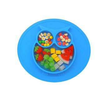 Cute Animal Shape Silicone Baby plate & silicone baby  suction bowl