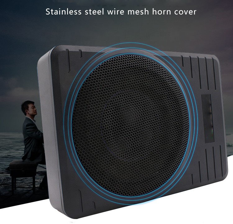 600W Max Power super slim 10 inch car under seat speaker subwoofer Disco Music for car under seat audio