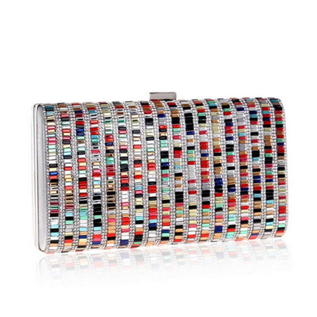 Get Quotations · WANHUIBAO Acrylic Candy Color Clutch Bag Lady Party  Wedding Evening Bag Shoulder Chain Purse Handbags For d99b5662a2b0f