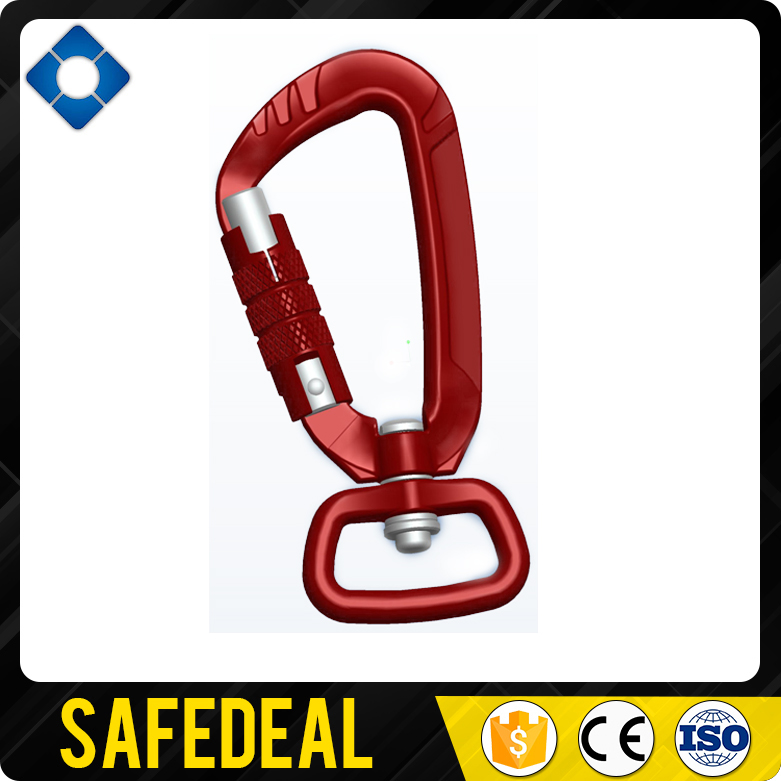 12mm Opening Aluminum Turn Lock Hook with Ring