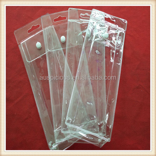 china supplier good quality clear vinyl pvc zipper bags for packaging