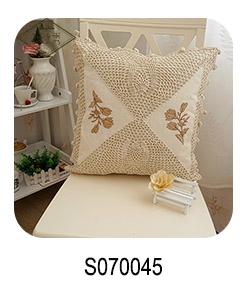レース刺繍入り花クッション家の装飾スロー枕カバー