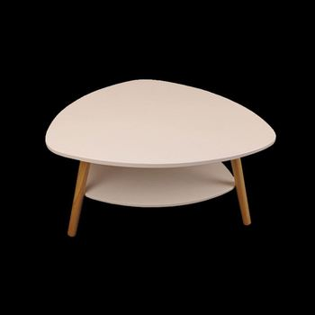 Dreamve Modern Round Short Legs Gloss Nesting Coffee Table