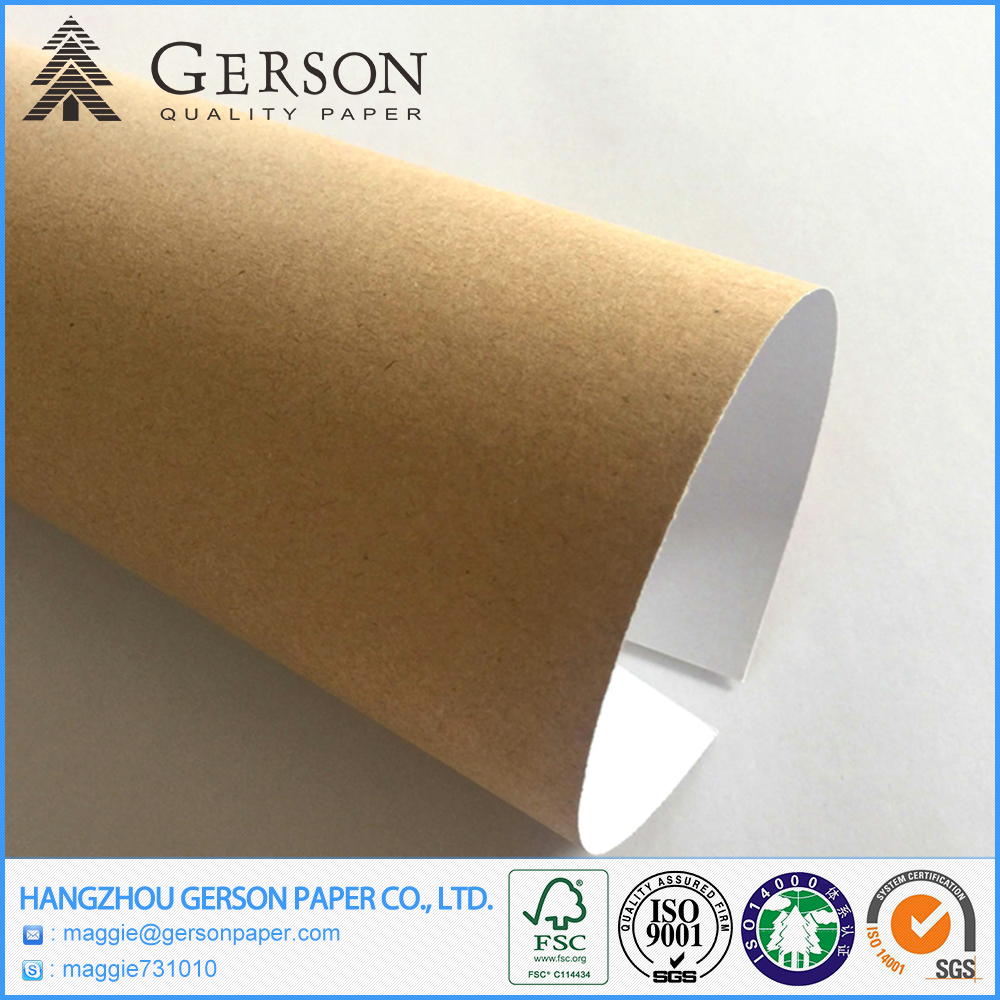 Superior Manufacturer White Clay Coated Kraft Paper Back Duplex Board Grey Back