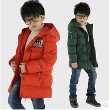 2016 New Winter Cotton-padded Warm Child Wadded Jacket Kids Thickening Down Brand Big Boy M Design Coat Children's clothing