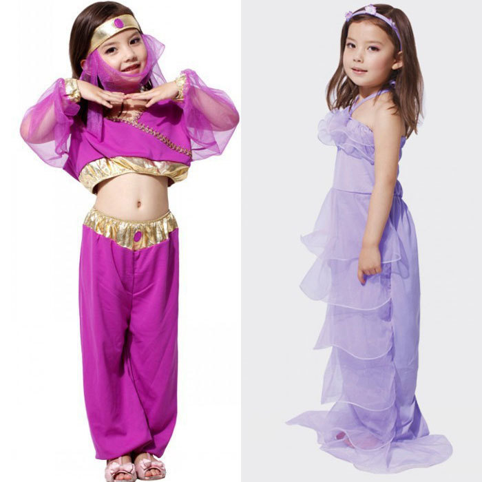 get quotations arabian princess dresses halloween costume for kids mermaid costumes dress girls dance dress halloween costumes for - 5 Girl Halloween Costumes