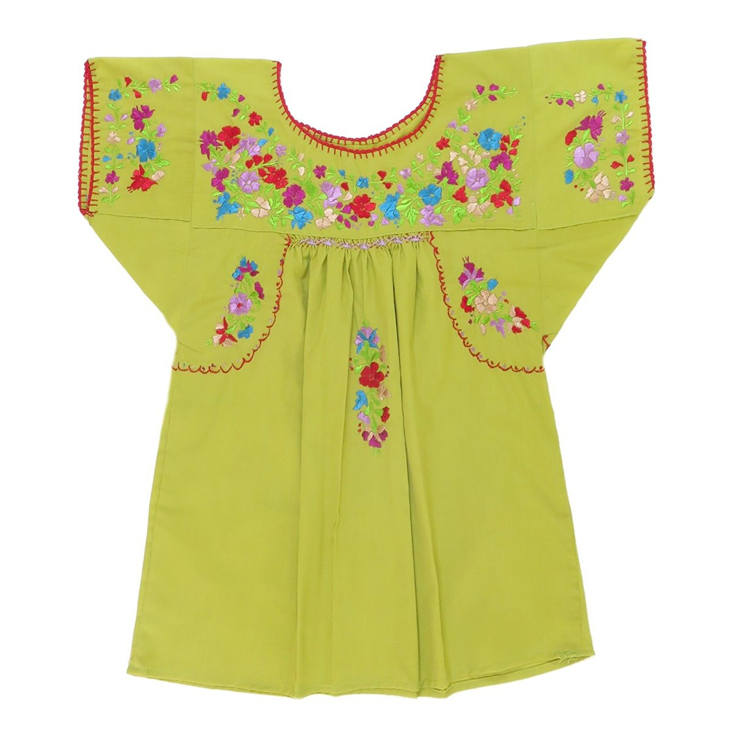 635dc2e53999f Get Quotations · Mexican Clothing Co Girls Mexican Blouse Traditional San  Antonino Poplin