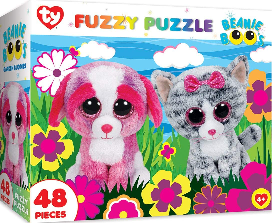 Get Quotations · MasterPieces Ty Beanie Boo Fuzzy of Garden Buddies - 48 Piece  Kids Puzzle c14c74207417