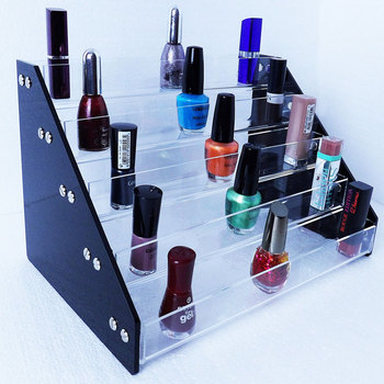 5 Tiers Acrylic Nail Art Polish Display Stand Rack Makeup Organizer