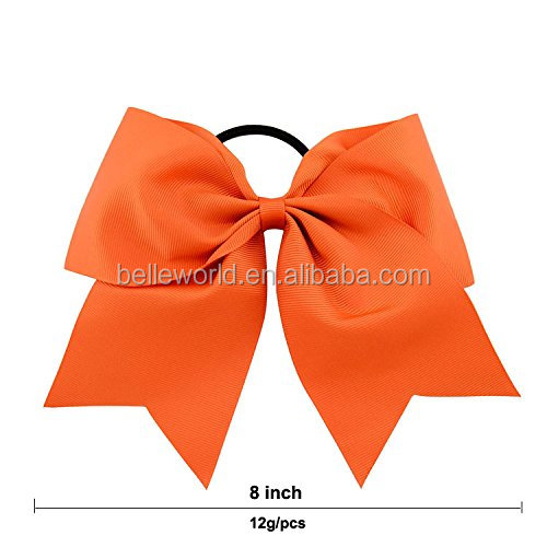 6 or 8 Inch Large Solid Bow Hairpin Girls Bows With Rope or Clip Hair Bows