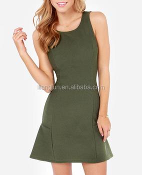 Señoras Buen Juego Verde Oliva Vestido Buy Vestido Verde Olivabuen Vestido De Juegovestido De Vaina Verde Oliva Product On Alibabacom