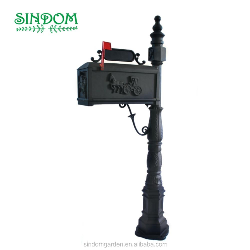 2018 hot sale cast aluminum waterproof US mailbox high quality letterbox, vintage letterbox, metal mailbox
