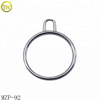 Bag accessory decorative round ring zip pullers reflective zipper slider for purse