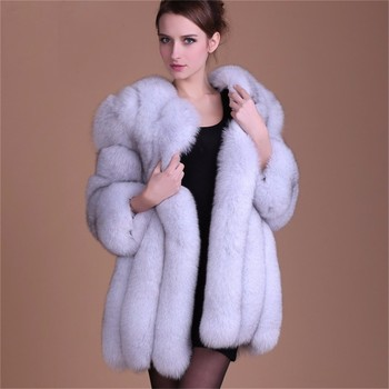 Women Coats Winter 2017 Ombre Clothing Ladies Faux Fur Coats - Buy ...