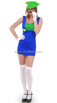 Wholesale Movie Character Sexy Girls Clothing High Quality Mario