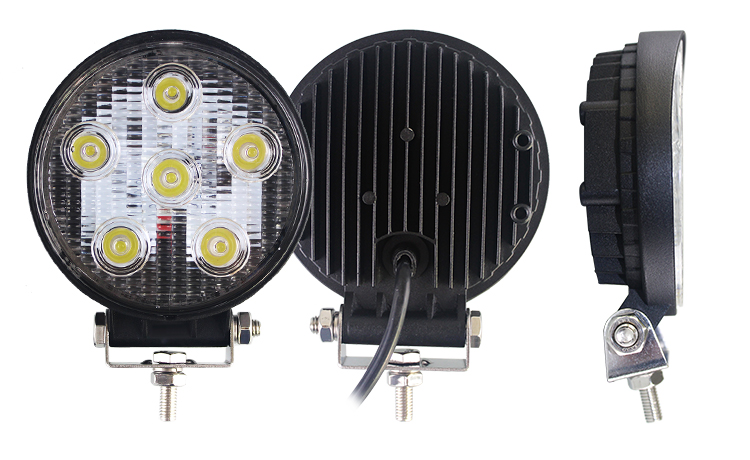 5in 18Watt Car LED Work Light Lamp - Round - 1440lm - Flood Spot - for Offroad Fog 4WD 4x4 Boat Jeeps Cars Trucks