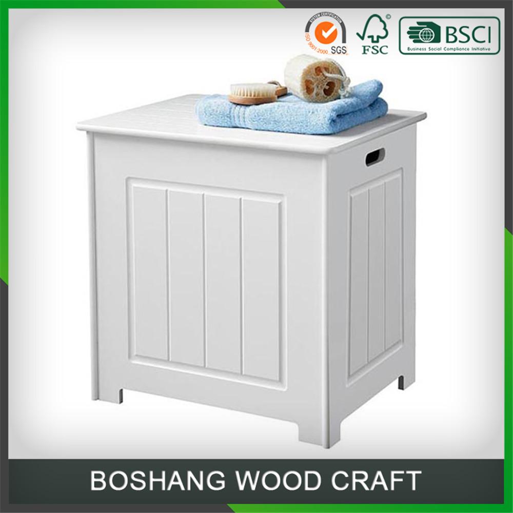 מבריק מתחת לכיור יחידת אחסון רצפת יהירות ארון אמבטיה עץ לבן-הבלי אמבטיה SC-11
