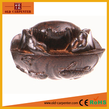 Top sale Delicate Crab 6*3*3cm wooden carved crafts