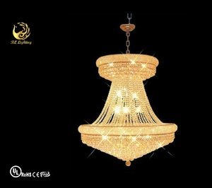 Chinese style hanging fabric lanterns on sale empire crystal chandelier lighting
