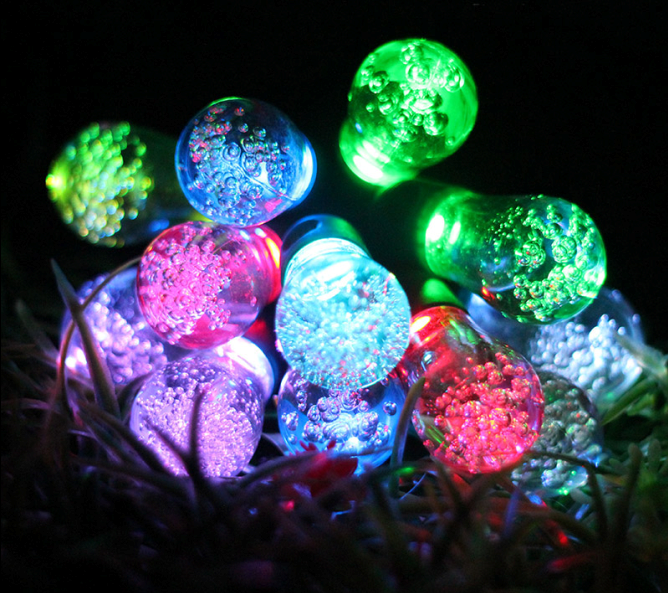 Out Door garden RGB LED Solar Powered String Light