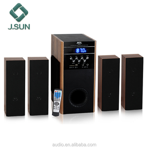 Wooden 4.1 creative DVD 5.1 fm radio home theater system