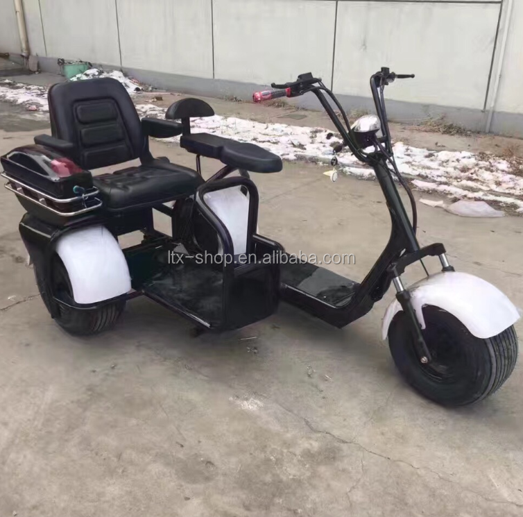 2017 Mini Citycoco 18*9.5 inch 3 Pneumatic Wheels Electric City Scooter City Coco Motor Cycle with 3 seats