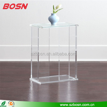 High quality clear transparent acrylic end table lucite Perspex desk