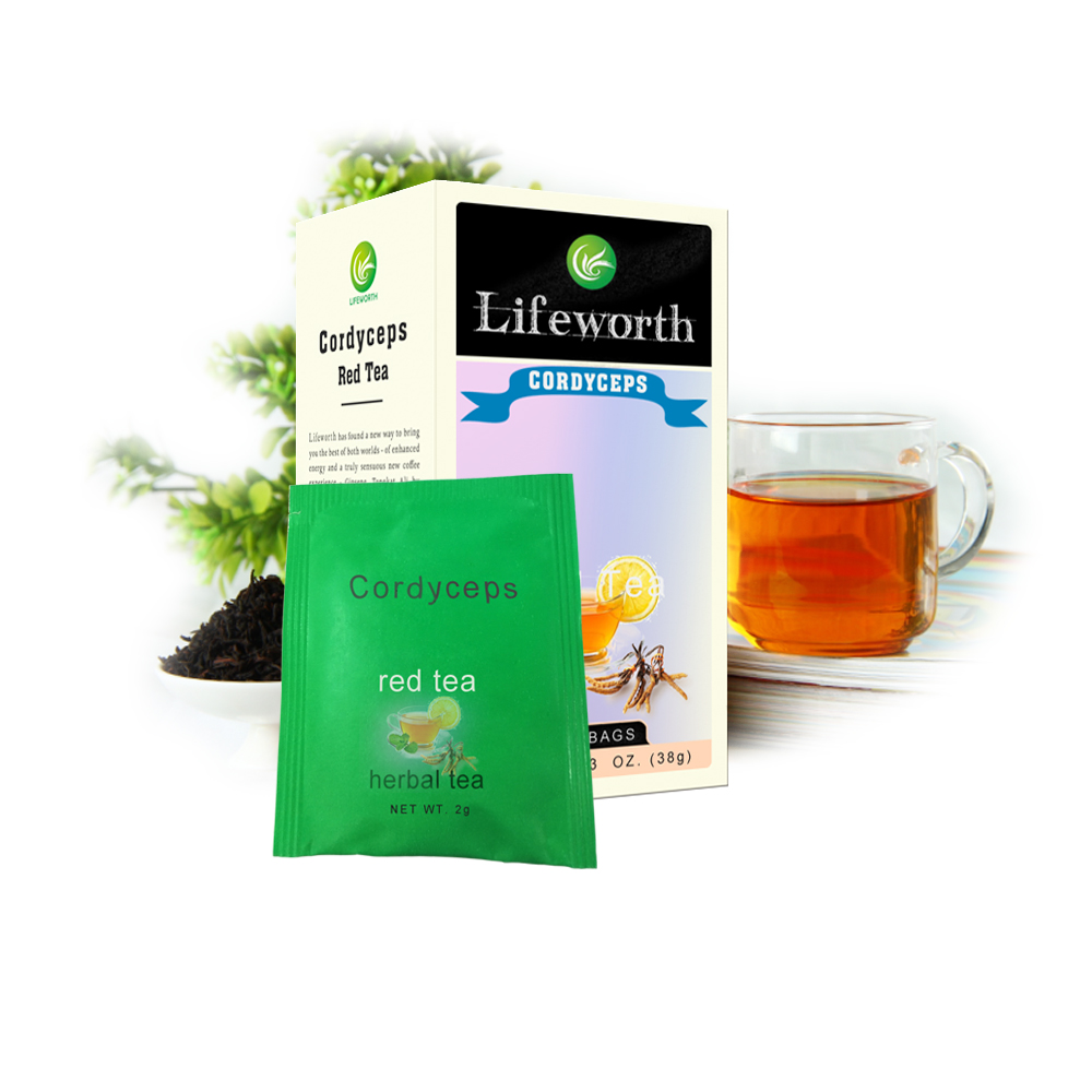 Lifeworth cordyceps sinensis red tea powder with mushroom extract - 4uTea | 4uTea.com