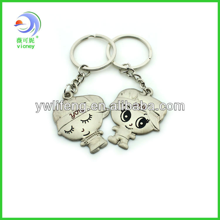 Promotion couple keychain with love you letter
