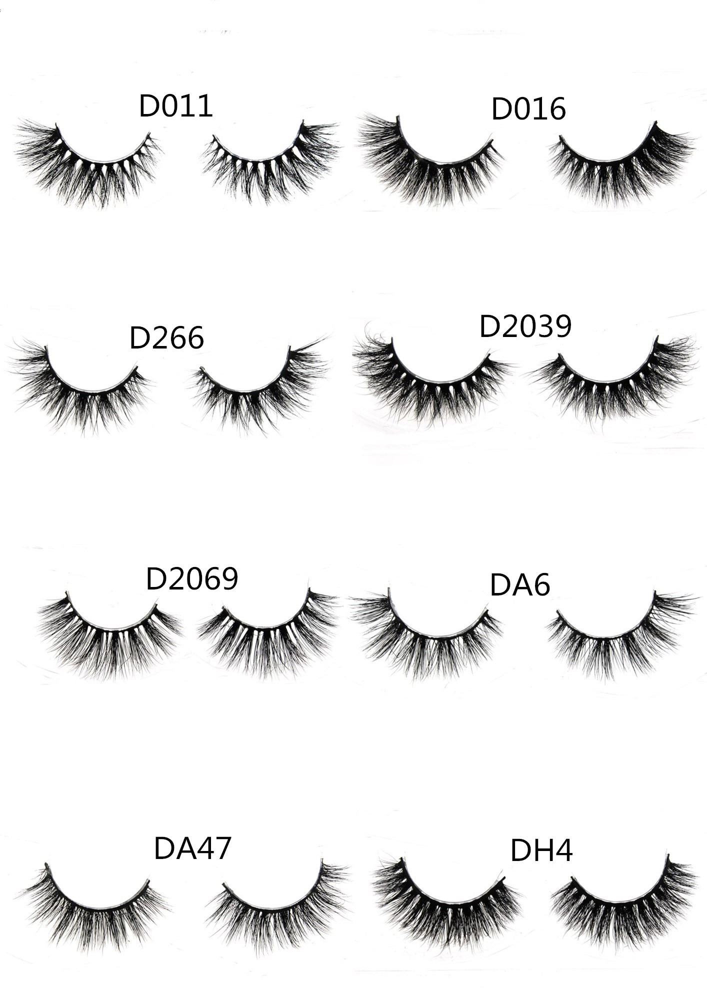 Hot Items makeup private label crazy false eyelash